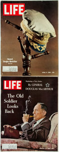 Books:Periodicals, [Periodical] [General Douglas MacArthur]. Two Issues ofLife. January and April 1964. Folio. Original printedwrappe... (Total: 2 Items)