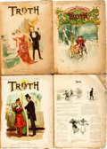 Books:Periodicals, [Periodical]. Four Bound Volumes of Truth. Folio. Four bound volumes spanning years 1892 to 1893. Likely incomplete.... (Total: 2 Items)