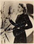 Movie/TV Memorabilia:Autographs and Signed Items, A Jeanette MacDonald Black and White Signed Photograph, Circa1930s....