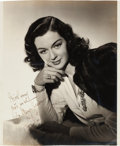 Movie/TV Memorabilia:Autographs and Signed Items, A Rosalind Russell Black and White Signed Photograph, Circa1930s....