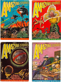 Amazing Stories Group (Ziff-Davis, 1927-28) Condition: Average FN-.... (Total: 16 Items)