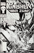 Original Comic Art:Covers, Michael Golden Punisher: War Zone #18 Cover Original ArtGroup (Marvel, 1993).... (Total: 2 Original Art)