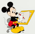 "Animation Art:Presentation Cel, Mickey Mouse ""Animator Mickey"" Publicity Cel Animation Art (WaltDisney, 1989)...."