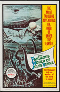 "Movie Posters:Fantasy, The Fabulous World of Jules Verne (Warner Brothers, 1961). OneSheet (27"" X 41"") & Lobby Card Set of 8 (11"" X 14"").Fantasy.... (Total: 9 Items)"