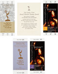 Movie/TV Memorabilia:Documents, A Group of Items Related to the Emmy Awards, 1970s-1990s.... (Total: 5 Items)