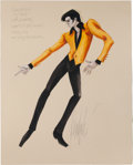 Music Memorabilia:Original Art, Elvis Presley Costume Design Sketch by Donfeld from Viva Las Vegas (MGM, 1964)....