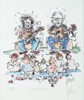 Music Memorabilia:Original Art, Grateful Dead -- Jerry Garcia Signed Limited Edition #201/500 Lithograph Garcia/Grisman (1993)....