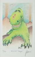 Music Memorabilia:Original Art, Grateful Dead - Jerry Garcia Signed Limited Edition LithographReluctant Dragon....