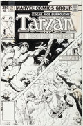 Original Comic Art:Covers, John Buscema and Bob McLeod Tarzan #24 Cover Original Art(Marvel, 1979)....