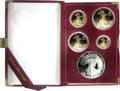 Proof Sets: , An Uncertified 10th Anniversary American Eagle Proof Bullion Set that is complete with its original box, holder, and certifica... (Total: 5 coins)