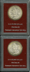 Additional Certified Coins: , 1898 $1 Morgan Dollar MS65 Paramount International (MS63),copper-red and forest-green tints ... (Total: 2 Coins)