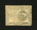 Colonial Notes:Continental Congress Issues, Continental Currency November 2, 1776 $4 Very Fine-Extremely Fine.Predominantly one main fold plus some other signs of circ...