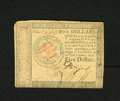 Colonial Notes:Continental Congress Issues, Continental Currency January 14, 1779 $5 About New. A center foldand a clipped corner are characteristics of this note. App...