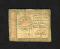 Colonial Notes:Continental Congress Issues, Continental Currency January 14, 1779 $5 Fine. Here is anuncommonly seen lower denomination note from this issue....
