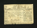 Colonial Notes:New York, New York February 16, 1771 £5 Fine. This bright note was cut inhalf and has since been reattached plus a couple of other r...