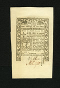 Colonial Notes:Rhode Island, Rhode Island May 1786 2s/6d Gem New. Prominent embossing and widemargins are highlights of this beautiful note....