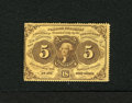 Fractional Currency:First Issue, Fr. 1228 5c First Issue Very Choice New. Superb original embossingis easily found on this rich yellow perforated note. The...