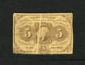 Fractional Currency:First Issue, Fr. 1230 5c First Issue Very Good. A 1mm gutter runs through the portrait of this Fractional error....