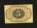 Fractional Currency:First Issue, Fr. 1231SP 5c Narrow Margin Back First Issue About New. A small repaired tear is noticed....