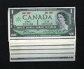 Canadian Currency: , BC-45a $1 1967 Forty-three Examples.. A large counting crinkle isfound on each of these notes. About Uncirculated.. ... (Total: 43notes)