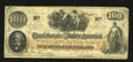 Confederate Notes:1862 Issues, T41 $100 1862. Crispy is this Scroll 2 C-note with healthy edges.Fine....