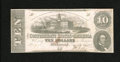 Confederate Notes:1862 Issues, T52 $10 1862. Sound edges on this Fine-Very Fine, cut cancelexample....