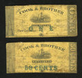 Obsoletes By State:Louisiana, New Orleans, LA - Cook & Brother 50¢; $1 1861. Each Good note in this scarce duo has been backed with a contemporary Fre... (Total: 2 notes)