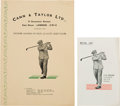 Golf Collectibles:Miscellaneous, 1920's J. H. Taylor Print Items Lot of 2....