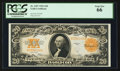 Large Size:Gold Certificates, Fr. 1187 $20 1922 Gold Certificate PCGS Gem New 66.. ...
