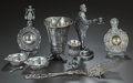 Silver Holloware, American:Other , AN EIGHT PIECE SILVER AND SILVER-PLATED ASSORTMENT OF TABLEARTICLES, Various makers, 20th century. Marks to bonbon dish: (l...(Total: 8 Items)