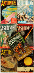 Books:Pulps, [Pulps]. Seven Issues of Astonishing Stories. 1938. Toningand edgewear with some loss. Good. . ... (Total: 7 Items)