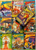 Books:Pulps, [Pulps]. Ten Issues of Amazing Stories. 1943. Toning andedgewear with some loss. Good. . ... (Total: 10 Items)