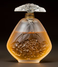 Art Glass:Lalique, LALIQUE CLEAR AND FROSTED GLASS PERFUME BOTTLE. Circa 1995.Engraved Lalique, c.932. Ht. 4-1/4 in.. ...