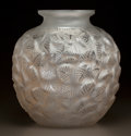 Art Glass:Lalique, R. LALIQUE CLEAR AND FROSTED GLASS CHARMILLES VASE . Circa1926. Molded R. LALIQUE. M p. 434, No. 978. Ht. 1...