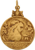 Golf Collectibles:Miscellaneous, 1925 Francis Ouimet Gold Medal From The Country Club....