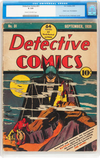 Detective Comics #31 (DC, 1939) CGC GD 2.0 Cream to off-white pages