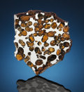 Meteorites:Palasites, RARELY AVAILABLE SPRINGWATER PALLASITE. Pallasite, PMG-an.Springwater, Saskatchewan, Canada (52° 0'N, 108° 18'W). ...