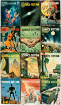 Books:Pulps, [Pulps]. Twelve Issues of Astounding Science Fiction. 1947.Toning and edgewear with some minor loss. Very good. . ... (Total:12 Items)
