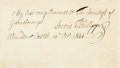"Autographs:Non-American, King Louis-Philippe of France Autograph Note Signed. One page, 7.5""x 4.5"", ""Windsor Castle [London],"" October 14, 1844,..."