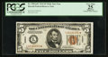 Small Size:World War II Emergency Notes, Fr. 2301* $5 1934 Hawaii Mule Federal Reserve Note. PCGS Apparent Very Fine 25.. ...