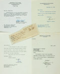Autographs:Military Figures, Military Figures. Group of Autograph and Typed Letters Signed. Includes Francis Leopold McClintock, Basil Hall, Eugene Zucke...