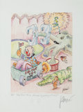 Music Memorabilia:Original Art, Grateful Dead - Jerry Garcia Signed Limited Edition Lithograph Fox Trot TH-4 Romeo Crybaby Circus....
