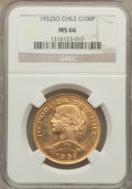 Chile, Chile: Republic gold 100 Pesos 1952-So MS66 NGC,...