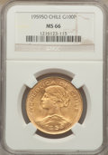 Chile, Chile: Republic gold 100 Pesos 1959-So MS66 NGC,...