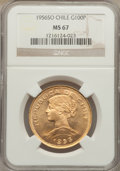 Chile, Chile: Republic gold 100 Pesos 1956-So MS67 NGC,...