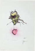 Music Memorabilia:Autographs and Signed Items, Grateful Dead - Jerry Garcia Dracula's Heart Signed Artist'sProof Lithograph Print (1992)...