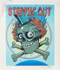 Music Memorabilia:Posters, Grateful Dead -- Steppin' Out Stanley Mouse Proof Print(2002)....