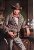 Movie/TV Memorabilia:Original Art, A Glenn Ford-Owned Oil Painting, Circa 1970s....