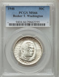 Commemorative Silver: , 1946 50C Booker T. Washington MS66 PCGS. PCGS Population (470/72).NGC Census: (446/63). Mintage: 1,000,546. Numismedia Wsl...