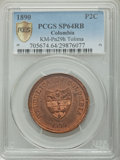 Colombia, Colombia: Tolima. Republic copper Specimen Pattern 2 Centavos 1890 SP64 Red and Brown PCGS,...